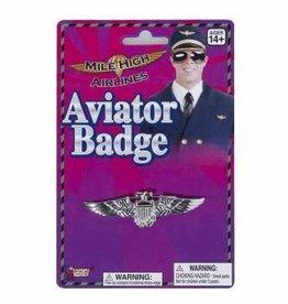 Aviator Badge - Silver