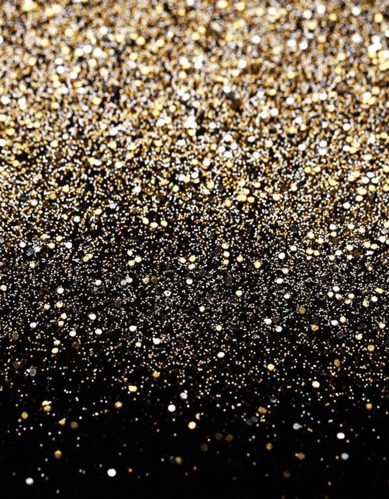 7'x5' Black and Gold Glitter Backdrop
