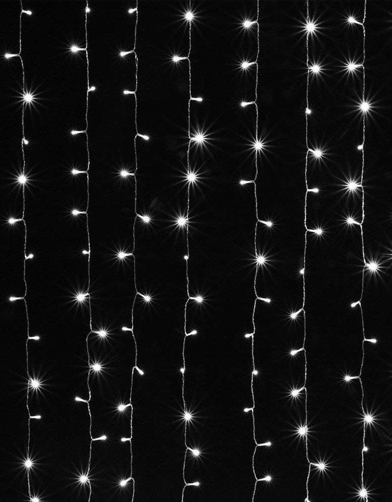 9.8'x6.6' Standard White String Light Curtain Backdrop