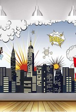 7'x5' Superhero City Backdrop