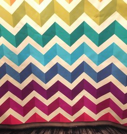 7'x5' Rainbow Chevron Backdrop