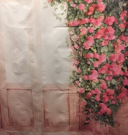 5'x3' Pink Flowers and Door Backdrop