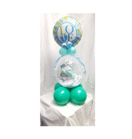 DELUXE WELCOME BABY (BLUE) STUFFED BALLOON