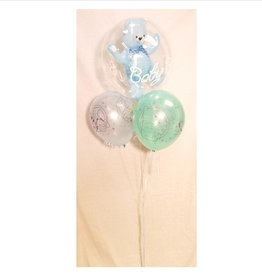 "1 Bubble with 3 Latex (11"") Balloon Bouquet"