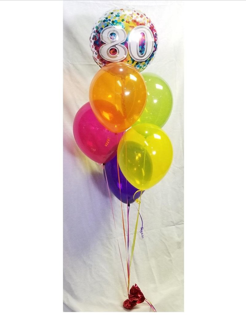 "1 Foil (18"") with 5 (11"") Latex Balloon Bouquet"
