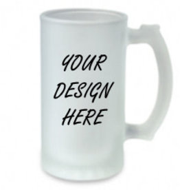Personalized 16oz Frosted Glass Stein