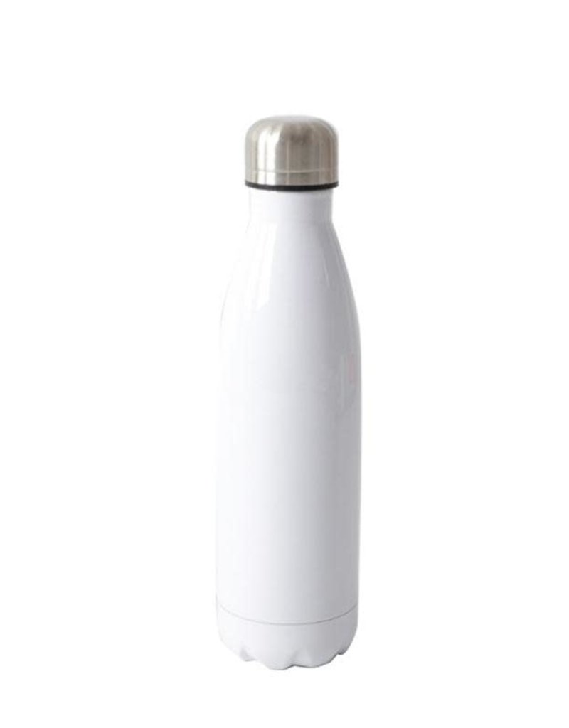 17oz Stainless Steel Water Bottle - White