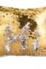 Flip Sequin Makeup Bag - Gold/Silver