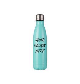 Personalized 17oz Stainless Steel Water Bottle - Mint Green