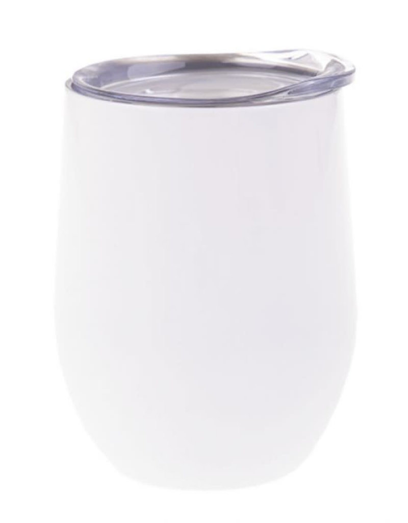 12oz Stainless Steel Wine Tumbler - White