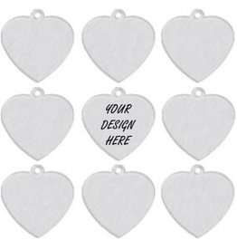 Personalized Aluminum Charm Tag - Heart