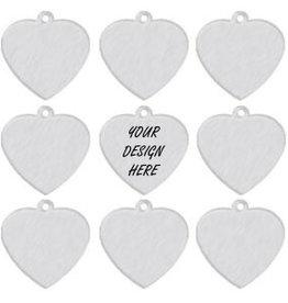 Personalized Aluminum Pet Tag - Heart