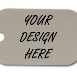 Personalized Silver Dog Tag with Notch