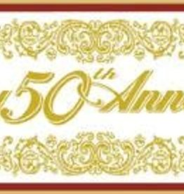 5' Happy 50th Anniversary Banner