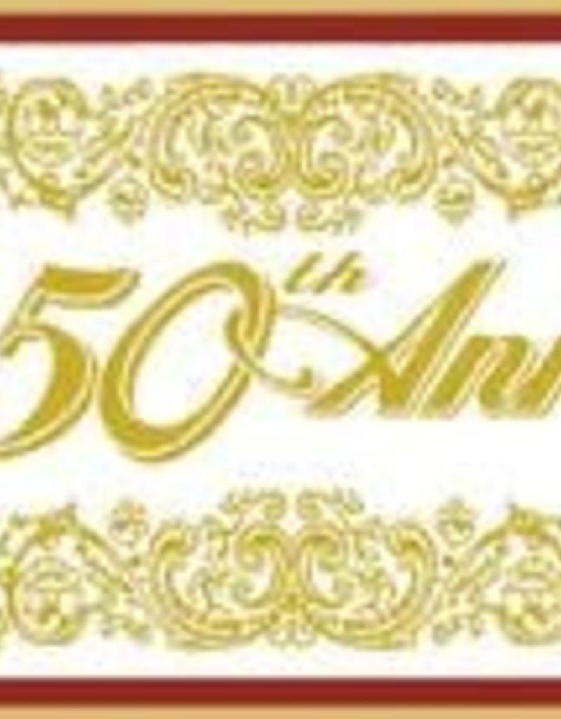 5' Happy 50th Anniversary Banner