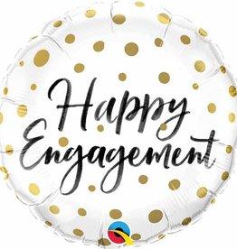 "Qualatex 18"" Happy Engagement Gold Dots"