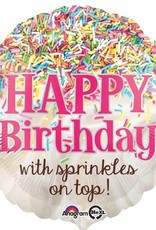"Qualatex 18"" Happy Birthday with Sprinkles"