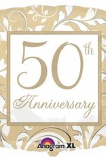 "Qualatex 18"" Elegant 50th Anniversary"