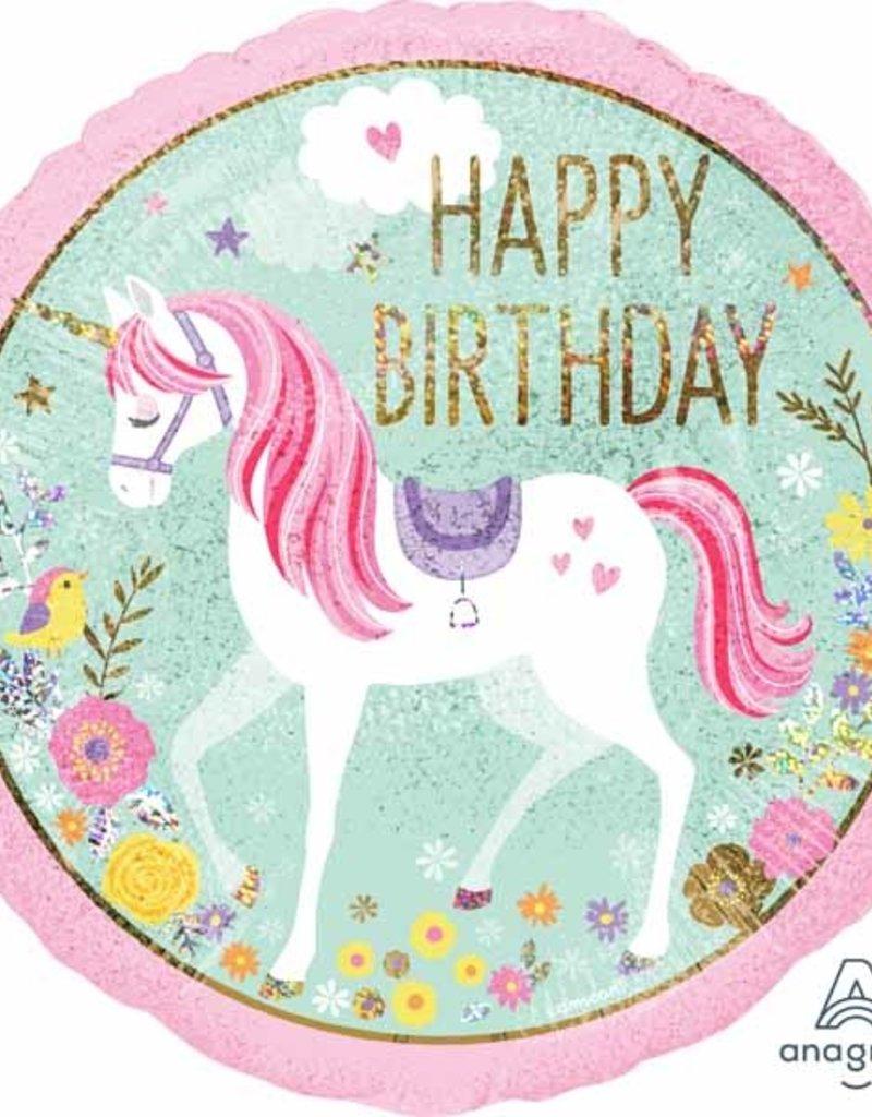 "Qualatex 18"" Happy Birthday Unicorn"