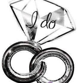 "Qualatex 30"" I Do Wedding Rings"