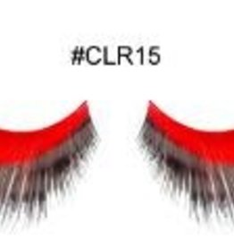 Red and Black Lashes - CLR15