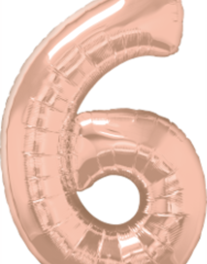 Qualatex Foil Jumbo Number 6 Helium Balloon