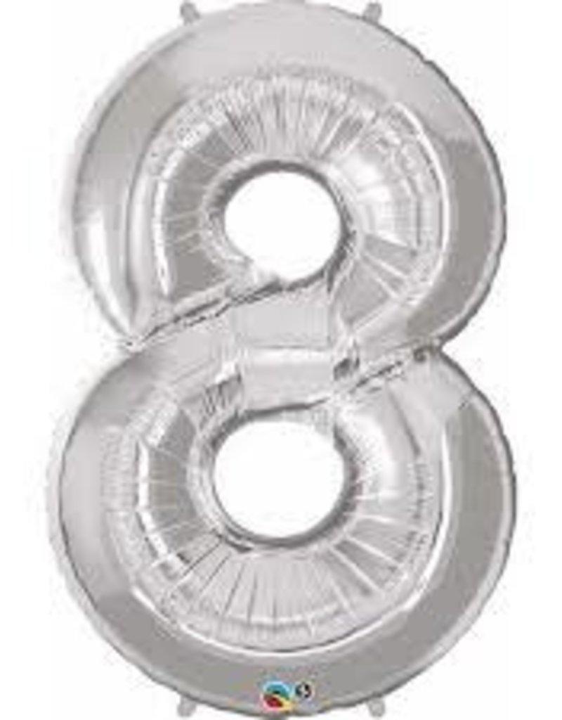 Foil Jumbo Number 8 Helium Balloon