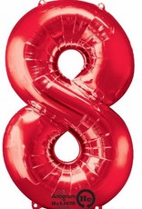 Qualatex Foil Jumbo Number 8 Helium Balloon