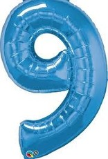 Qualatex Foil Jumbo Number 9 Helium Balloon