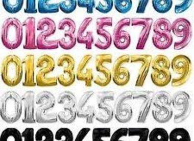 Helium Filled Jumbo Foil Numbers
