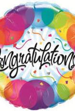 """Qualatex 18"""" Congratulations Balloons"""