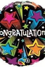 "Qualatex 18"" Congratulations Shooting Stars"