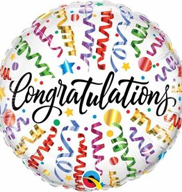 "Qualatex 18"" Congratulations Streamers"
