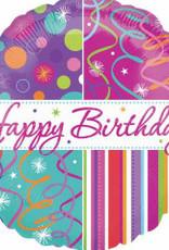 "Qualatex 18"" Happy B-Day Foil Helium Balloons pt2"
