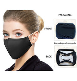 Washable Adult Face Mask - BLACK SNUG Fit
