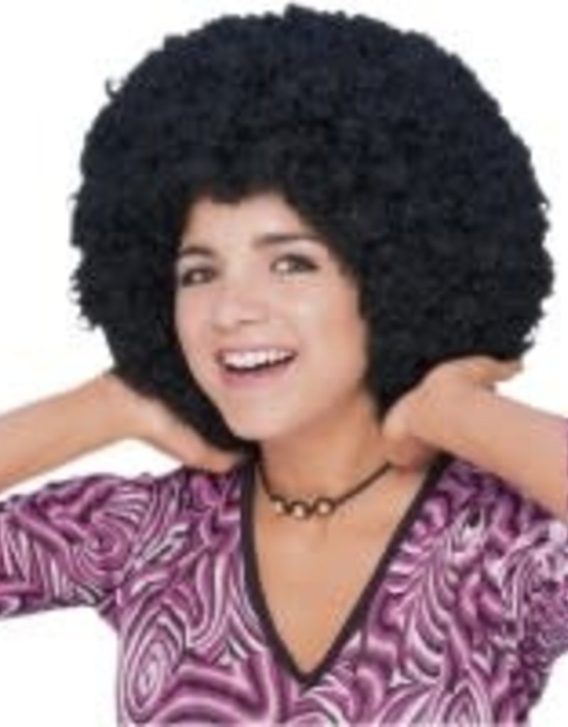 70's Afro Wig - Black