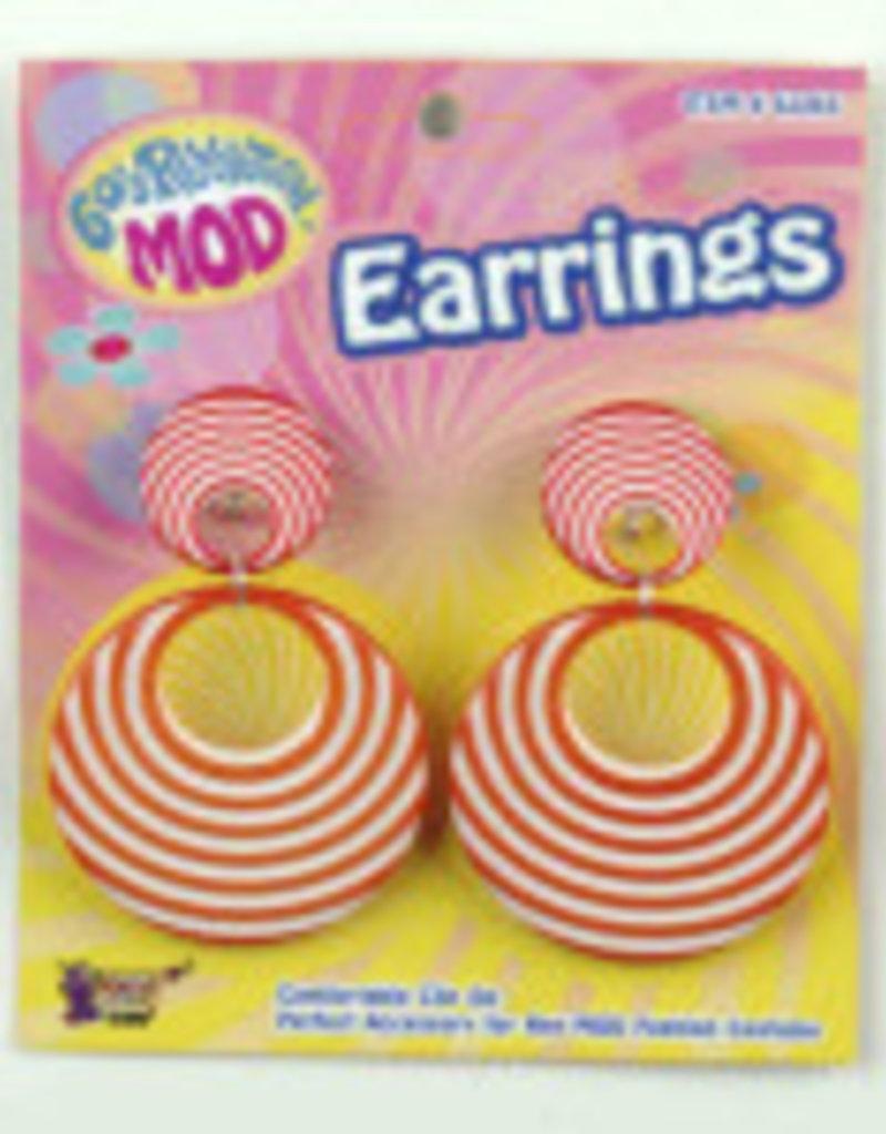 60's Revolution Mod Earrings - Orange
