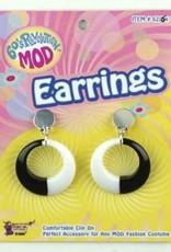 60's Revolution Mod Earrings - Black/White