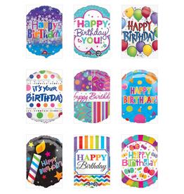 "Qualatex 18"" Happy B-Day Foil Helium Balloons Pt.2"
