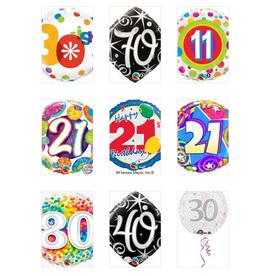 "Qualatex 18"" Happy B-Day Foil Helium Balloons Pt.1"