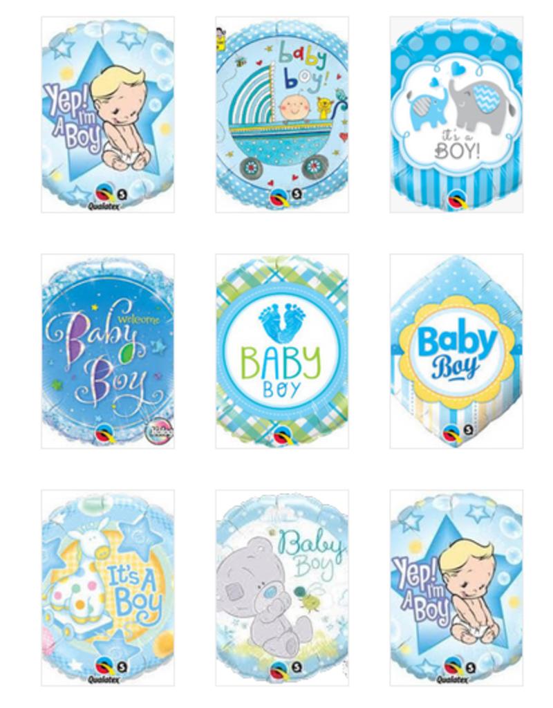 "Qualatex 18""  Baby Boy Foil Helium Balloons"