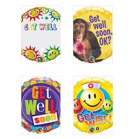 "Qualatex 18"" Get Well Foil Helium Balloons"