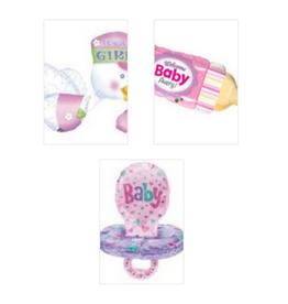 Qualatex Baby Girl Foil Helium Balloons Pt.2