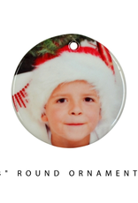 "PERSONALIZED 3"" Round Ornament W/Hole"