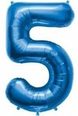 Qualatex Foil Jumbo Number 5 Helium Balloon