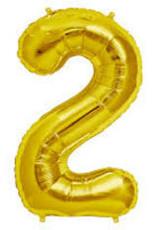 Foil Jumbo Number 2 Helium Balloon