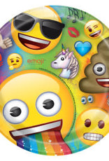 "9"" Emoji Paper Plates - 8pc"