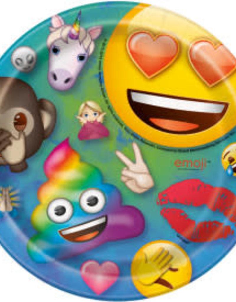 "7"" Emoji Paper Plates - 8pc"