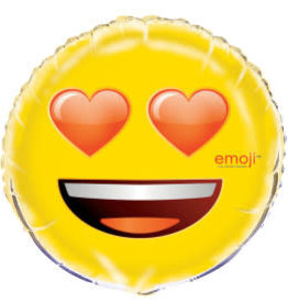 "18"" Emoji Heart Eyes Foil Balloon"