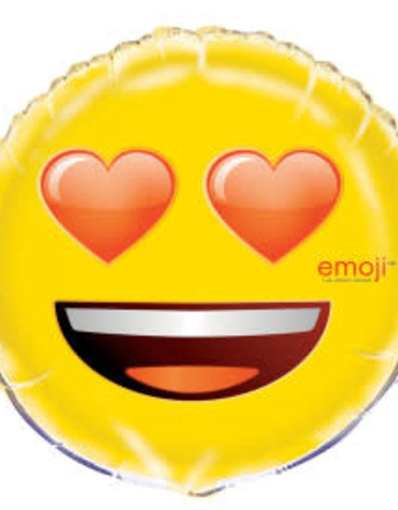 "18"" Emoji Heart Eyes Foil Balloon"